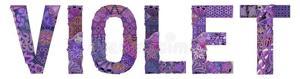 Word violet vector decorative zentangle object decoration hand painted art design hand drawn illustration word violet t 124530711